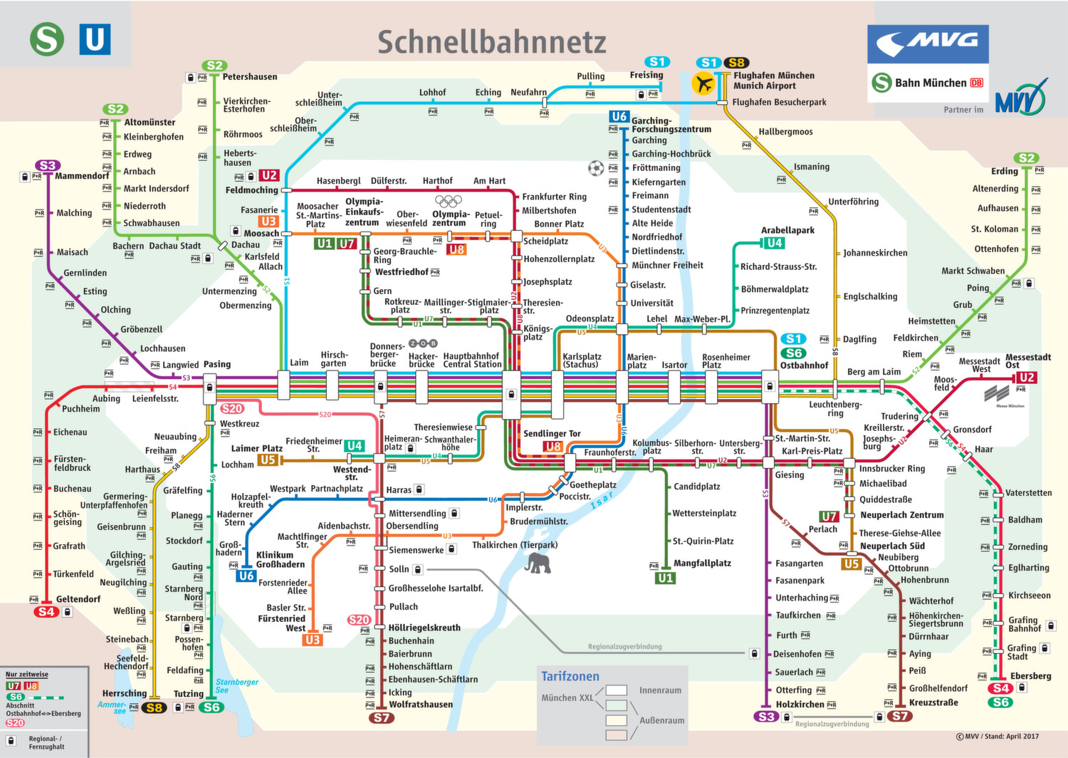 ᐅ U Bahn Plan Munchen 2018 Mobil In Bayerns Grossstadt