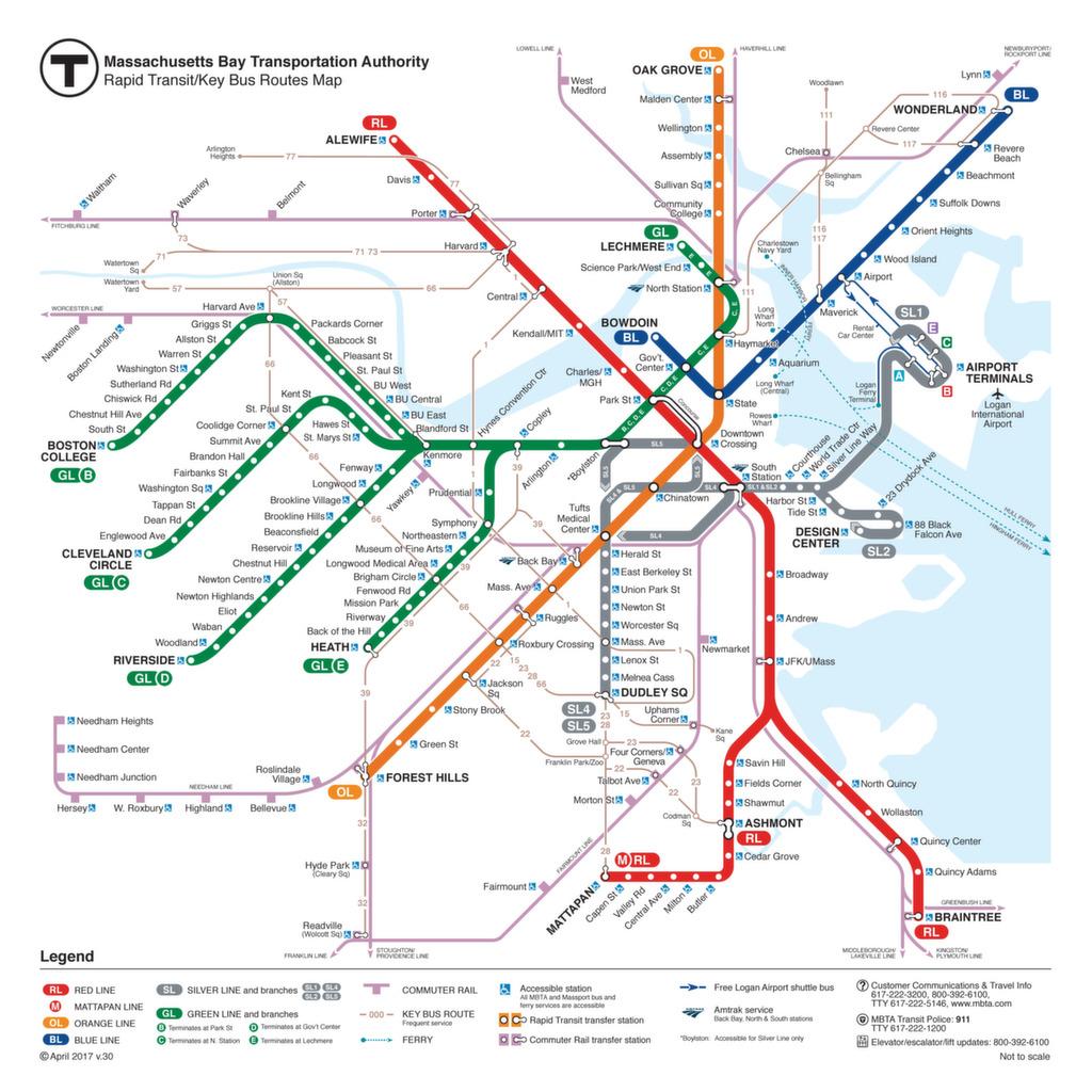 ᐅ Boston Metro Map 2018 Fahrplan Tickets Preise