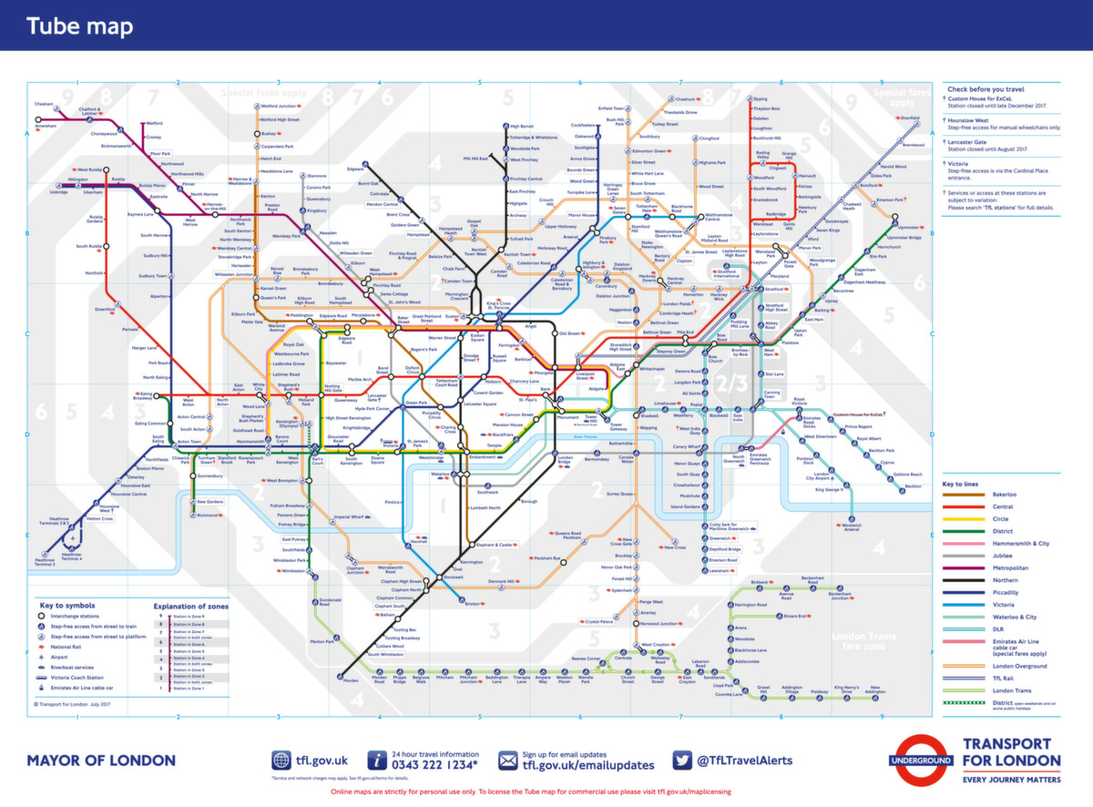 ᐅ London Tube Map 2018 – Die weltberühmte Underground